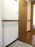 公団住宅の廊下の手すり工事