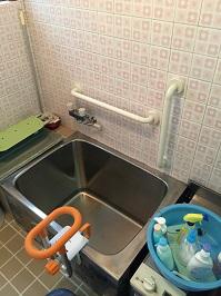 浴室手すりの取付工事2